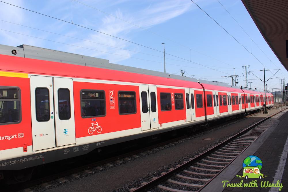 Taking the train - Stuttgart