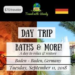 DAY TRIP - BATHS & MORE... - SEPT 11
