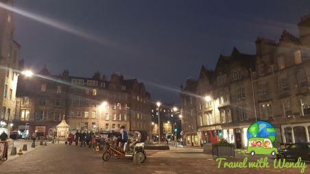 Grass market in Edinburgh