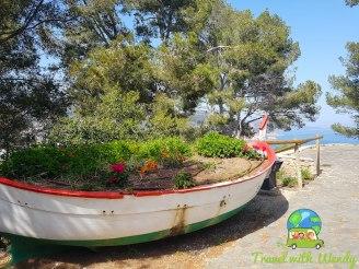 Great planter - boat in Tossa del Mar