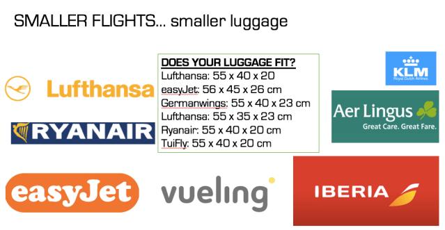 smaller flights...smaller luggage