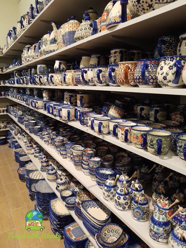 Andy showroom mugs - Polish Pottery