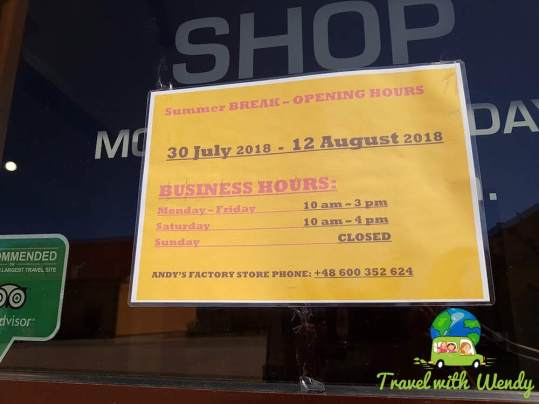 Andy's summer hours