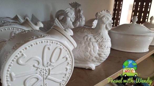Lovely white pottery of Elios