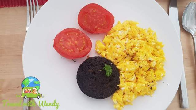 Oban, Scotland - Scrambled eggs and black pudding