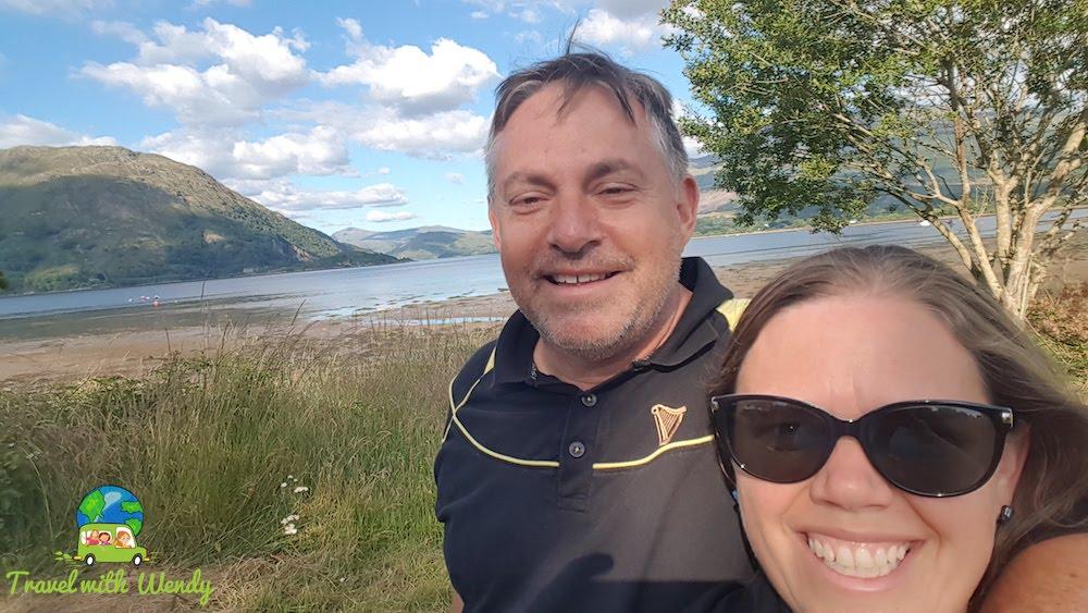 Walking around with my man around Scotland