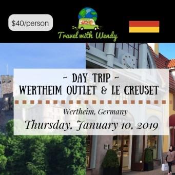 DAY TRIP - WERTHEIM JAN 10