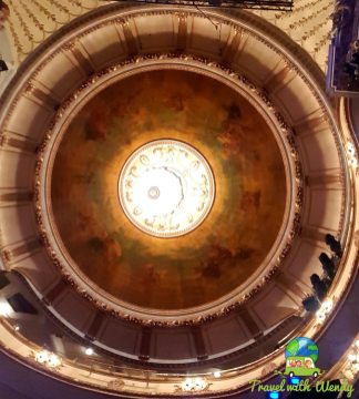 Ceiling of the theatre - WOW!