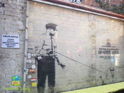 Famous Banksy in ShoreDitch