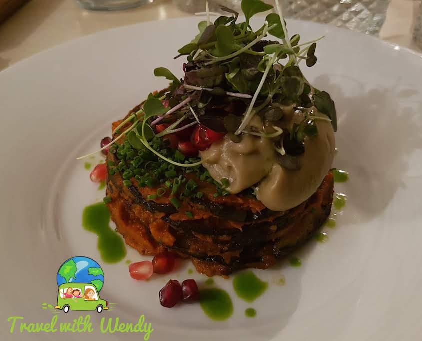 Eggplant parmigiana at Cafe Moon