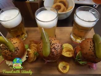 Sampler with mini burgers