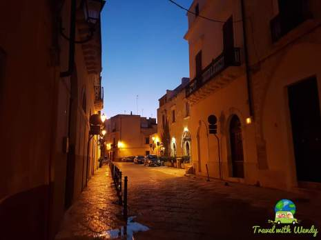 Brindisi streets at night