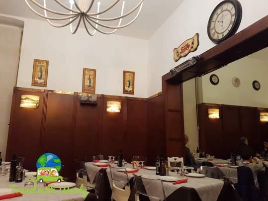 Escosazio's dining room in Brindisi