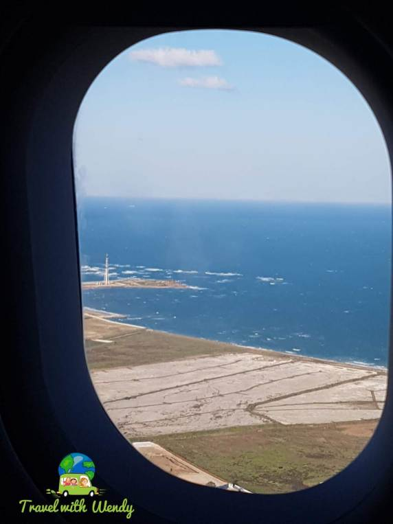 Great views of Salento before landing - bootheel Italy