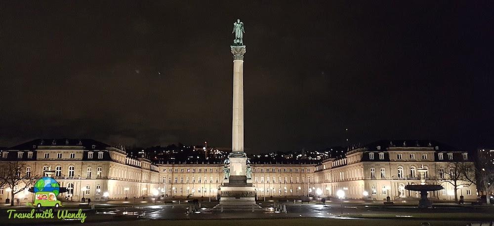 Stuttgart at night