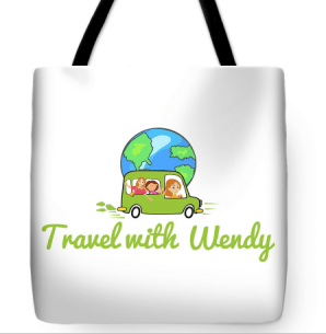 Travel with Wendy - Tote bag