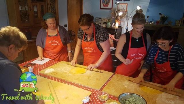 Cooking class fun - Italy