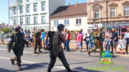 Soldier in the parade - Pilsen, Czech Republic