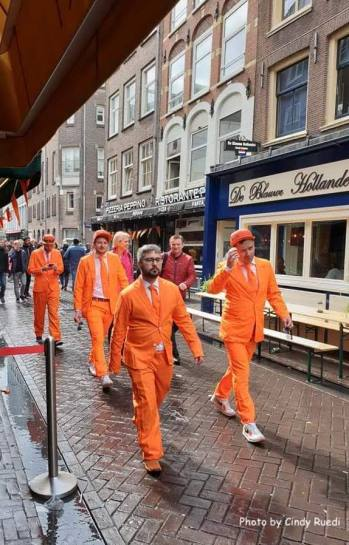 It's all about the orange, fun costumes - Amsterdam