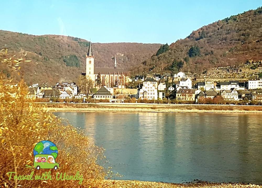Church and town on the Rhine