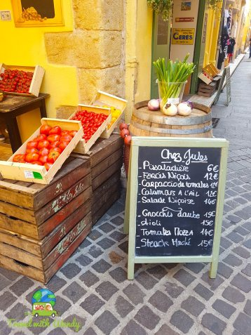 Fresh market stands - French Riviera