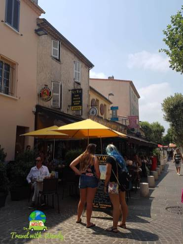 Summer streets of Antibes