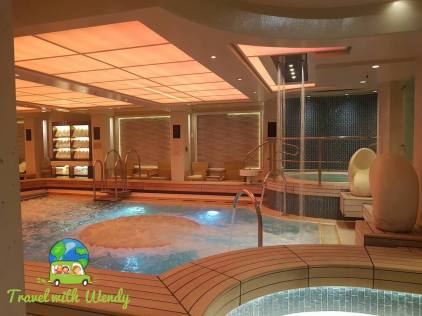 Ahhh ~ time to chill in the cruise spa