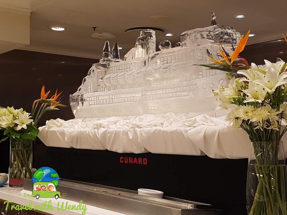 Cunard on Ice - Huge Cruise Ship