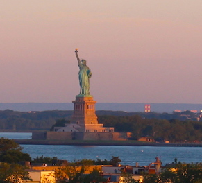 Welcome to NY from our Lady Liberty