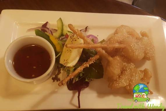 Fried Shrimp with Cocktail sauce - Yummy restaurant - Wales