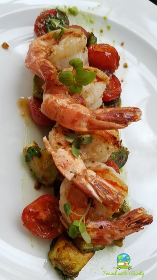 Shrimp avocado appetizer