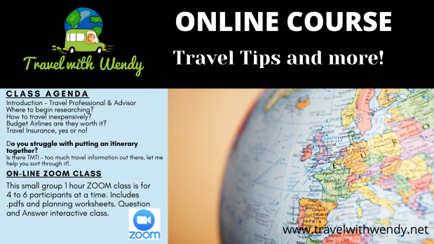 Travel Tips and more Online course
