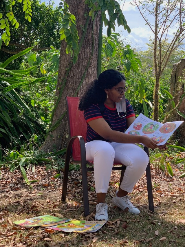 Story teller at USVI Botanical Gardens