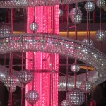 Norwegian Epic chandelier Red Inner Color on TravelXena.com