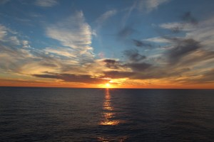 Sunset from the Ship – Norwegian Gem