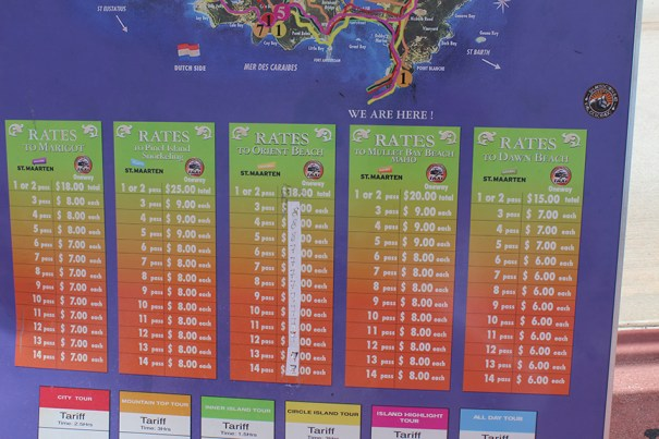 St-Maarten-Martin-Cab-Rates-from-port