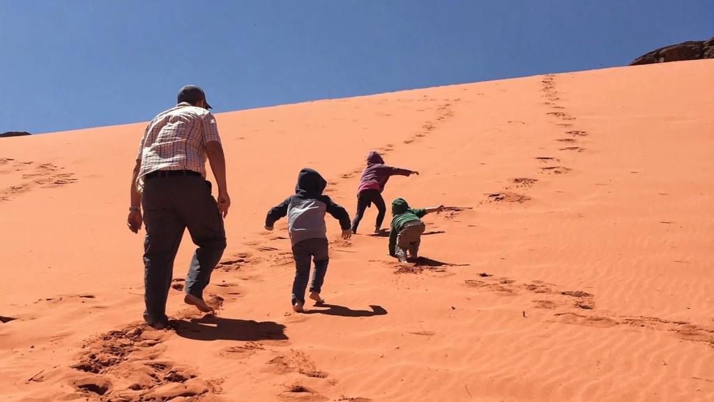 Jordan with kids