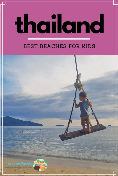 Best beaches in Thailand for kids pin