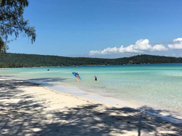 Koh Rong Saloem with kids
