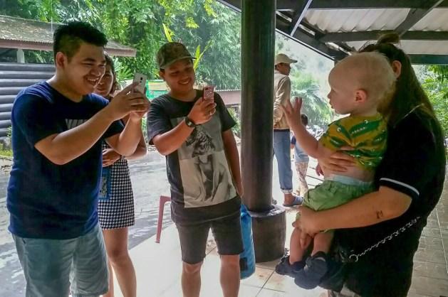 Thailand with kids - selfie