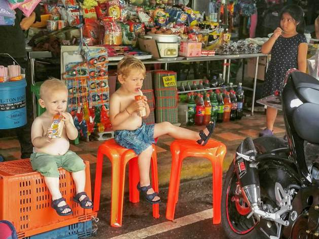 Thailand with kids - snacks