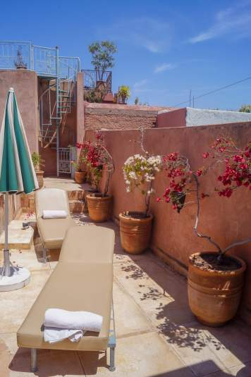 Riad Les Hibiscus rooftop