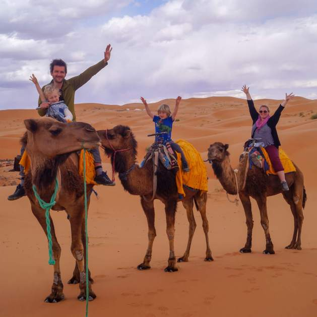 camel riding in the Sahara