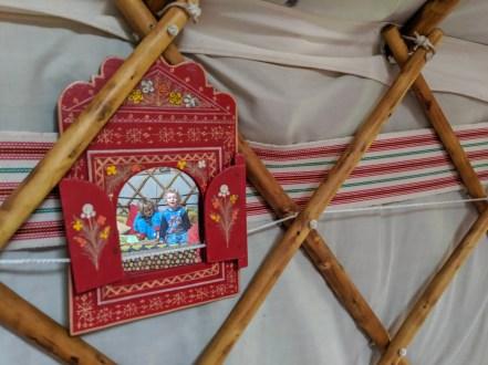 mirror in yurt