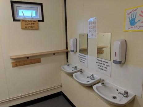 washbasins in toilet