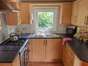 kitchen in mobile home