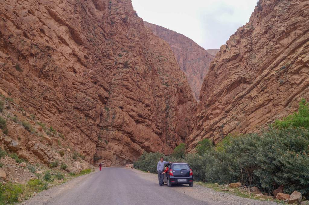 Todrha Gorge and car
