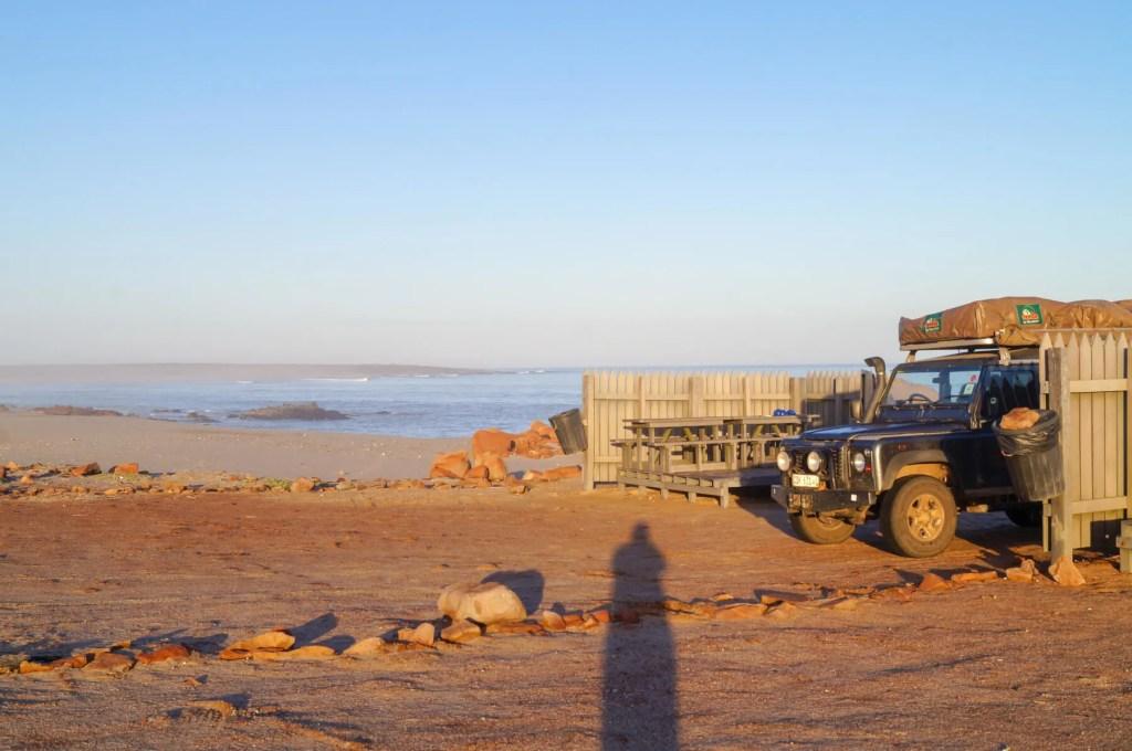 campsite at Cape Cross Seal Reserve