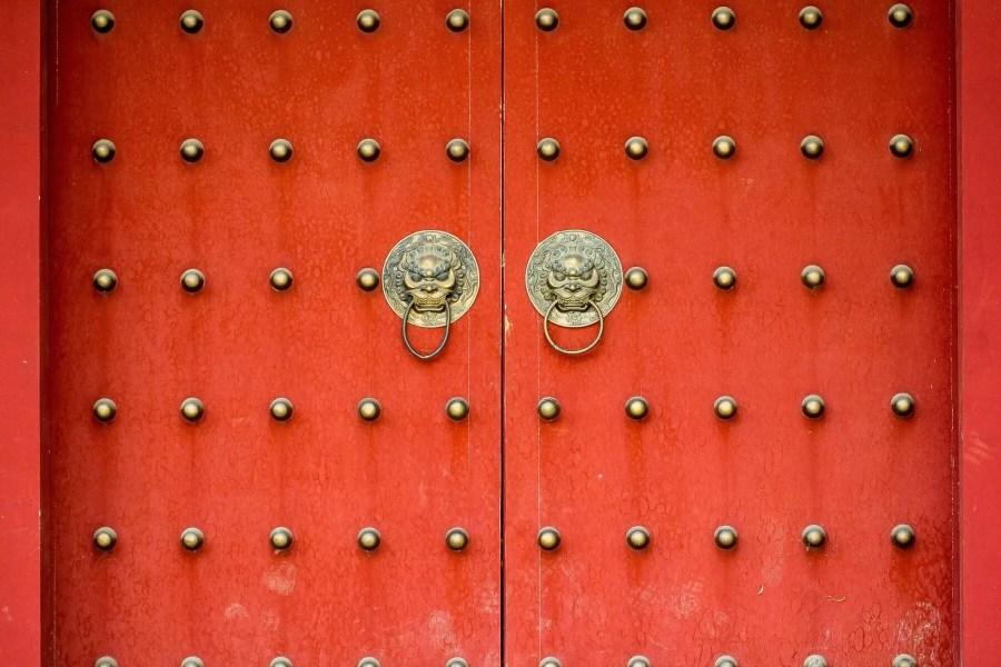 red Chinese door