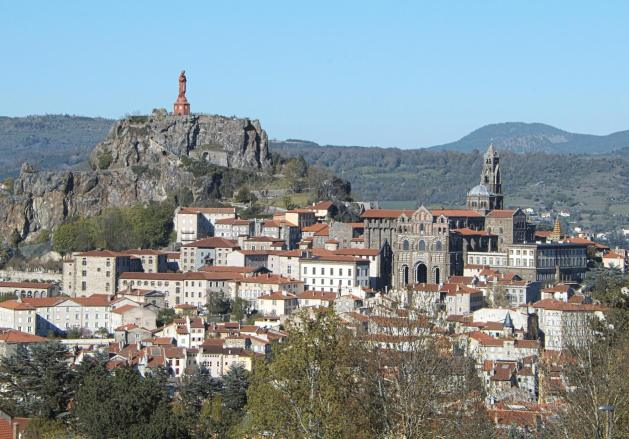 a view of a medieval French town